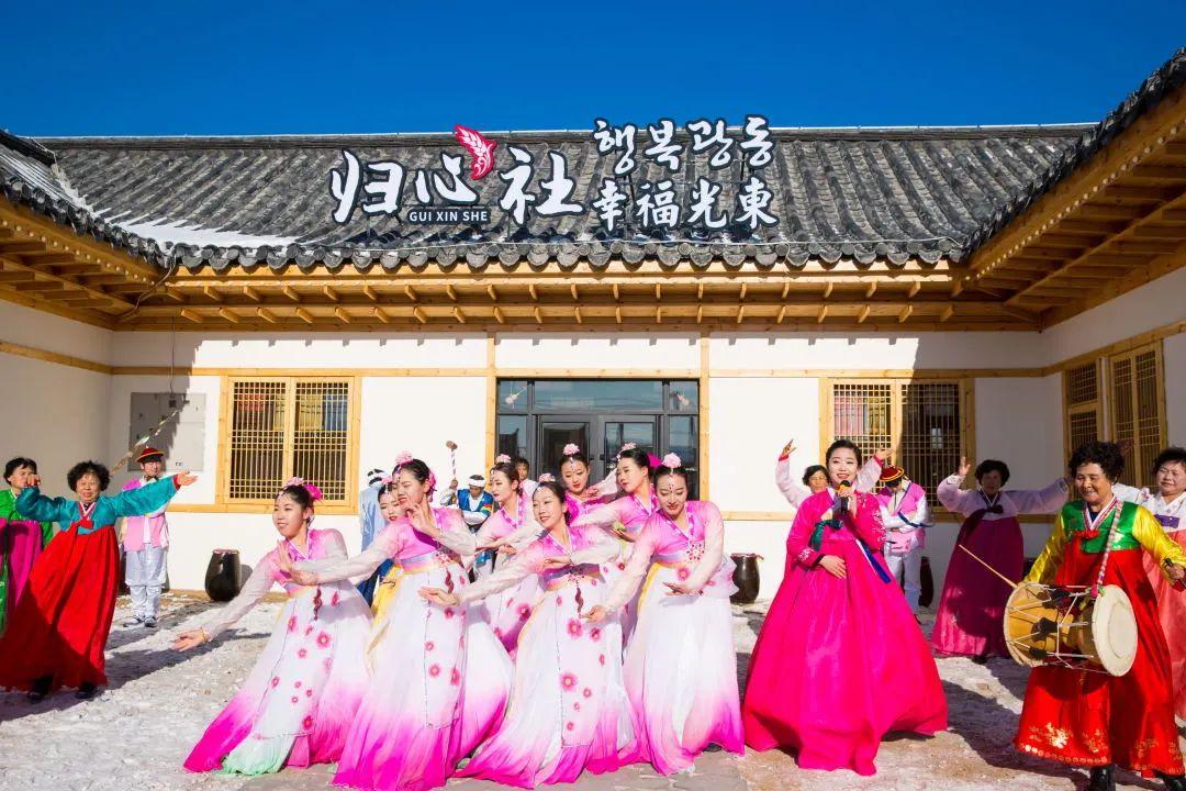 ▲光东朝鲜族民俗村