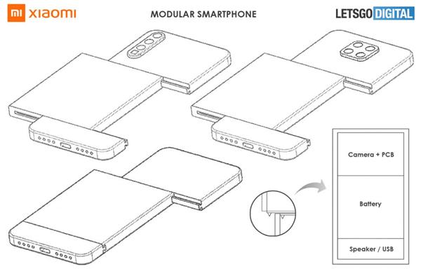 小米模塊化手機專利曝光:攝像頭、電池輕松更
