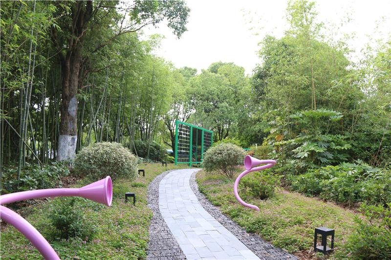 鄞州公园(一期)八景初具雏形 打造公园城市景观线重要节点