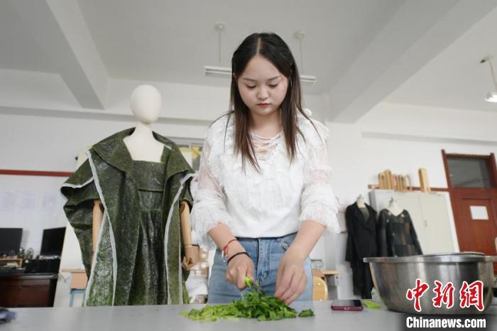吉林女大学生自创可食用服装