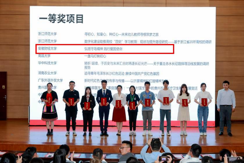 """安徽财经大学在第十七届""""挑战杯""""全国大赛红色专项活动中勇创佳绩"""