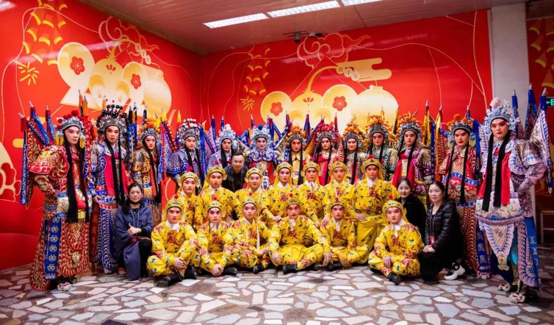 参加2020年央视春节联欢晚会全体演职员合影