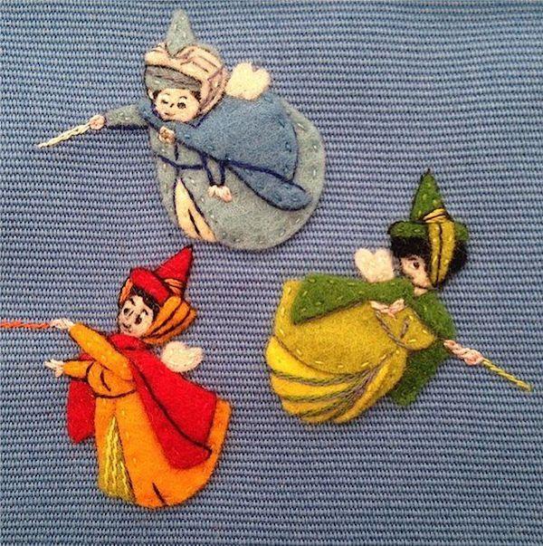 来源于迪士尼故事的刺绣元素