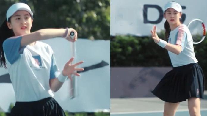 真运动少女!森碟六一展运动风采,跑步玩滑板打网球活力爆表