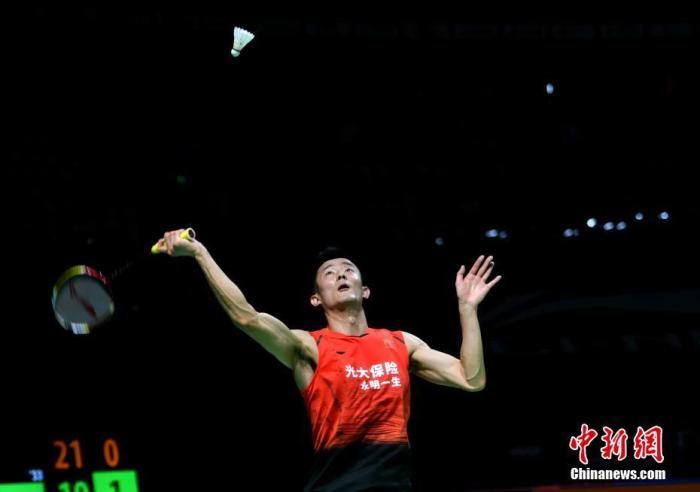 谌龙在比赛中。中新社记者 吕明 摄