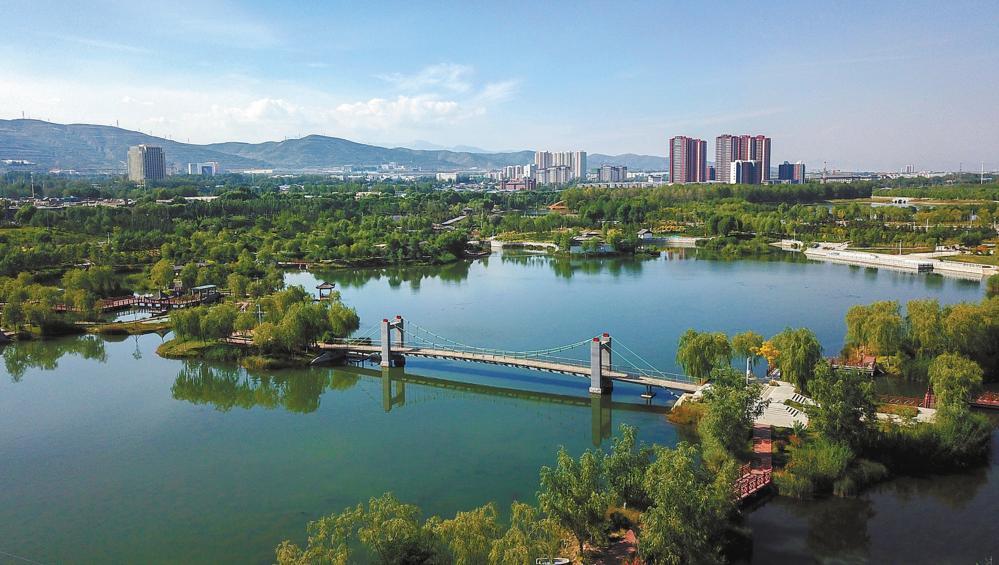 北川河湿地公园。