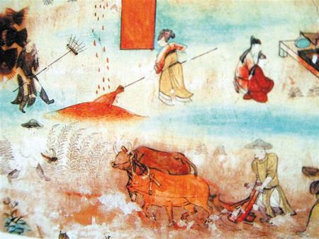 壁画《农作图》