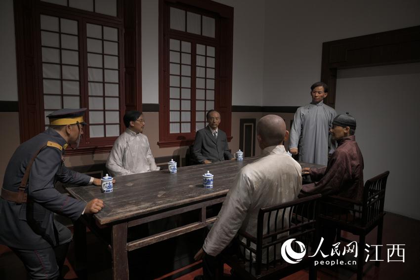 纪念馆复现工人代表与路矿当局谈判时的场景。刘起福摄
