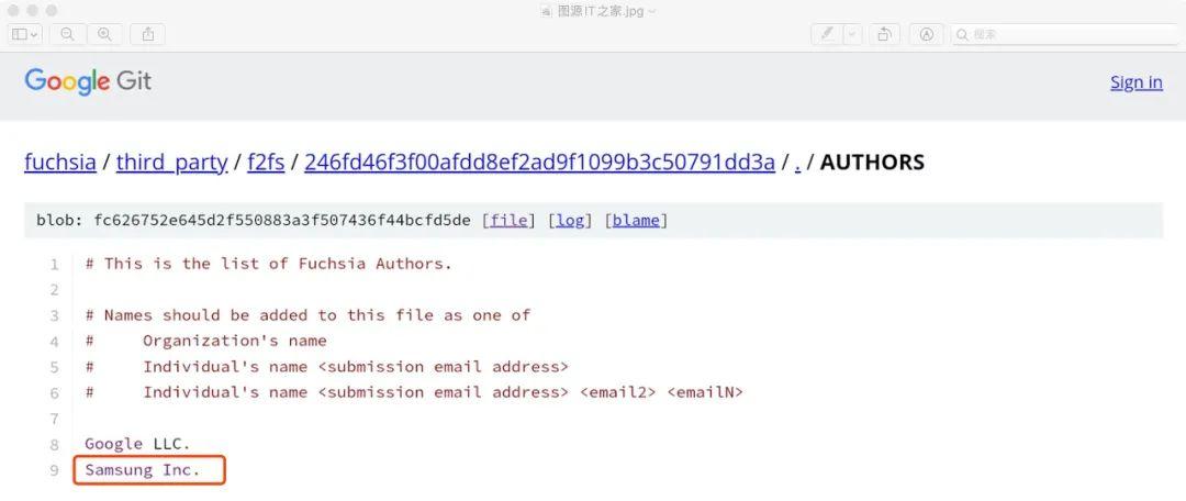 Fuchsia OS代码库,图源IT之家