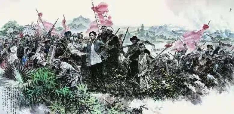 井冈山革命博物馆油画《秋收暴动》