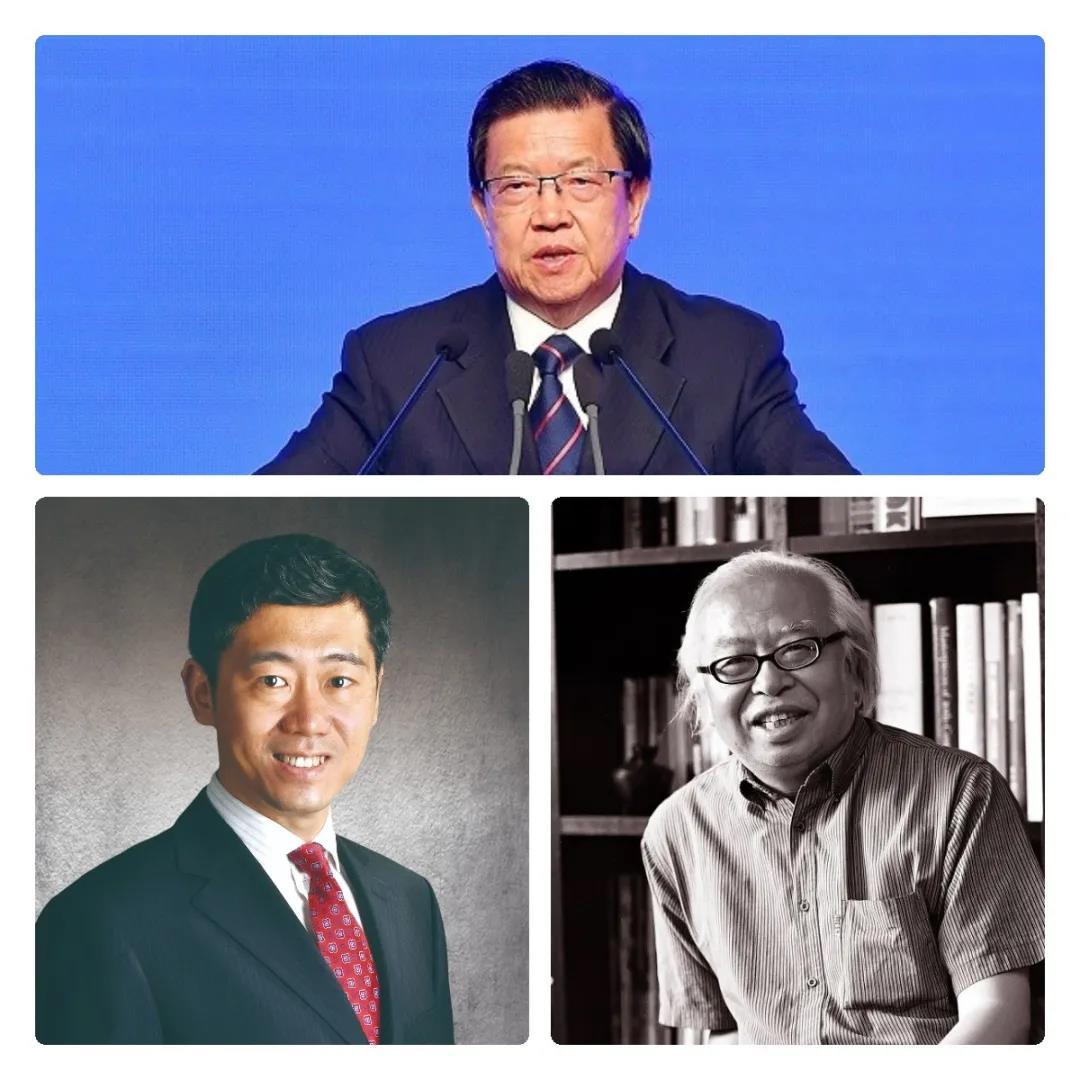 从上至下分别为龙永图、李稻葵(左)、杜大恺(右)