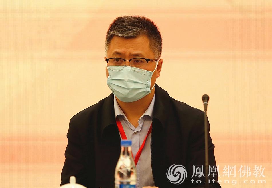 中国佛教协会秘书长刘威出席活动(图片来源:凤凰网佛教)