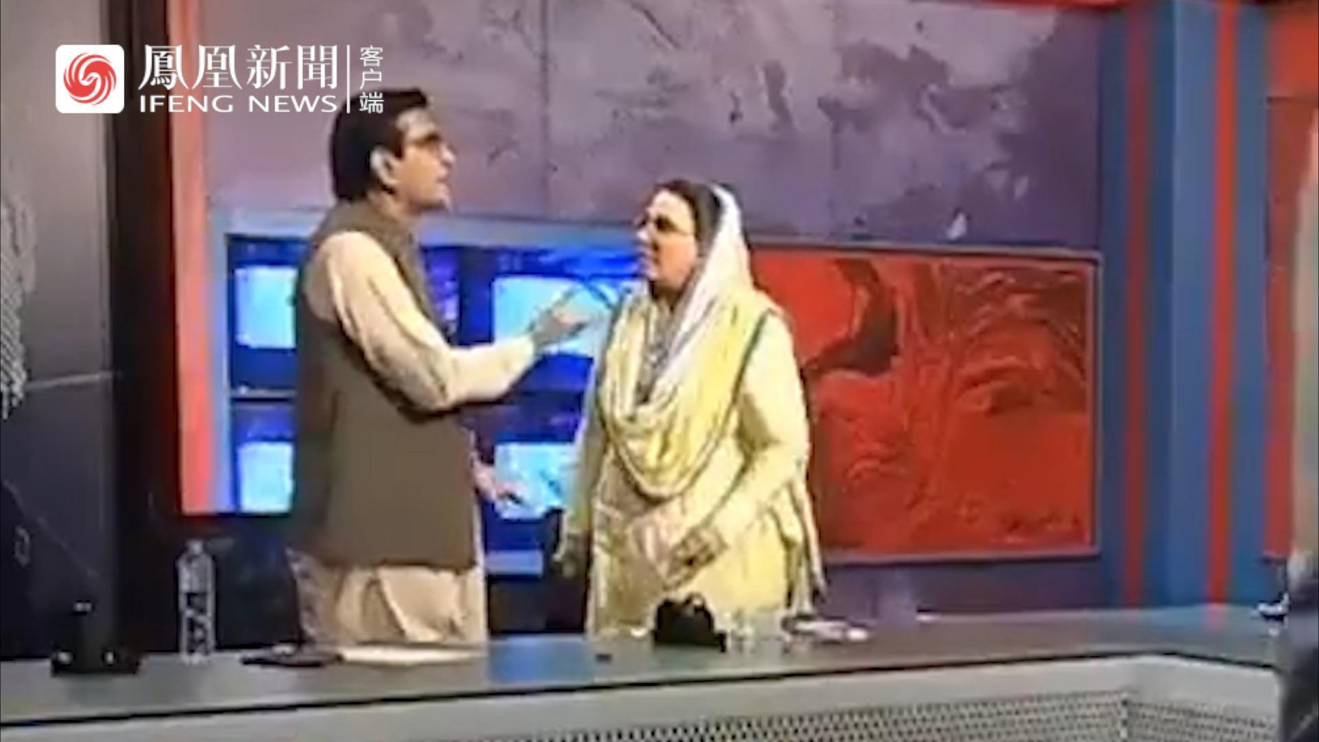 因遭言语冒犯,巴基斯坦女政客节目上掌掴男政客
