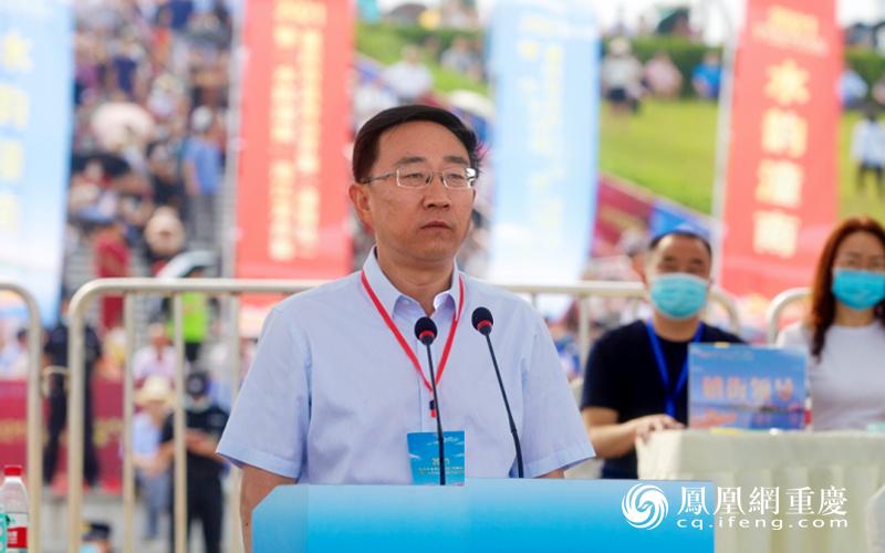 潼南区委书记、区长张安疆宣布开赛
