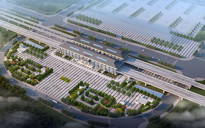 璧铜线璧山站效果图。重庆交通开投集团供图