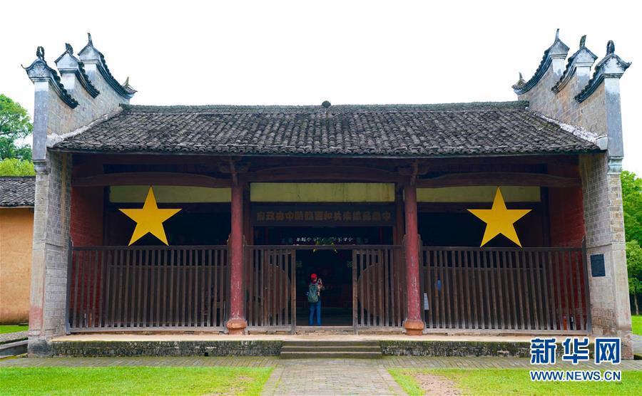 这是江西瑞金叶坪谢家祠堂(5月27日摄)。新华社记者 胡晨欢 摄