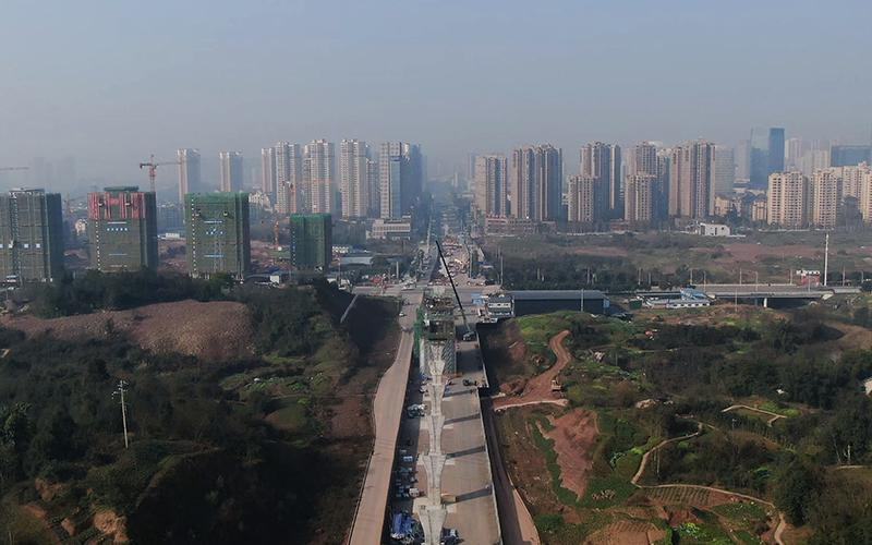 璧铜线节点工程区间鸟瞰图。重庆交通开投集团供图