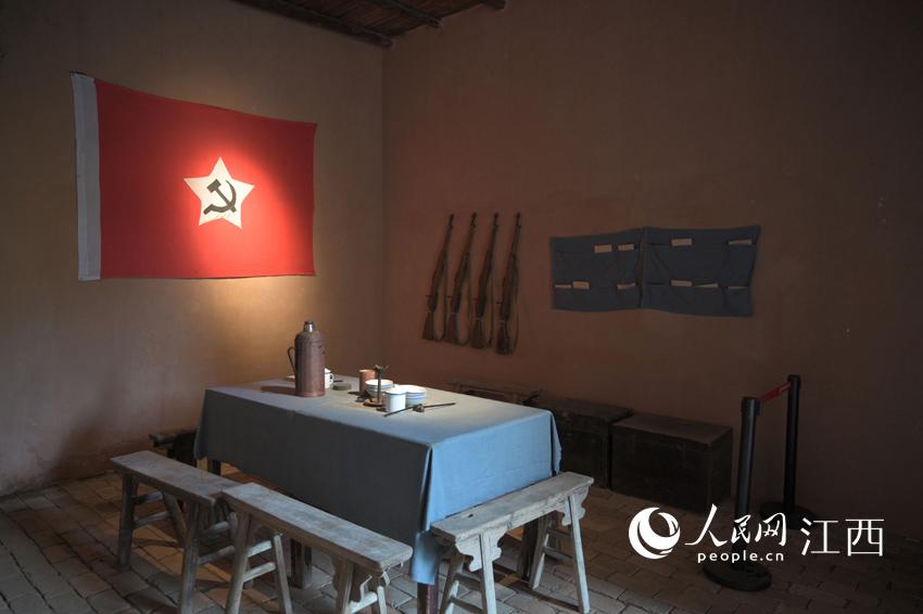 湘鄂赣省委旧址内部陈设,还原历史场景。刘起福摄