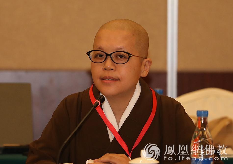 中国佛教协会副秘书长养立法师发言(图片来源:凤凰网佛教)