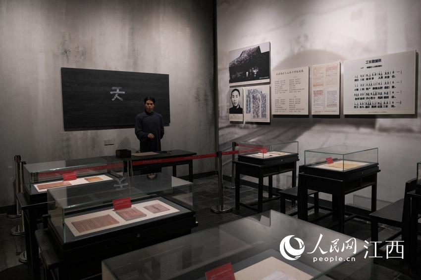 纪念馆复现安源路矿工人补习学校。 刘起福摄