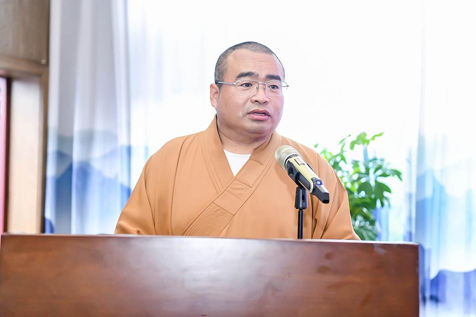 北碚区佛教协会首任会长妙慧法师致辞