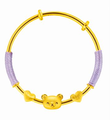 六福珠宝2021 Rilakkuma「轻松小熊」系列隆重推出
