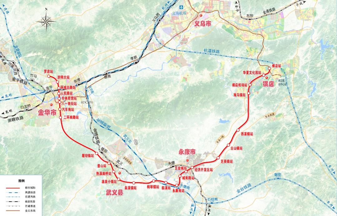 关注!金武永东线纳入长三角轨道交通规划