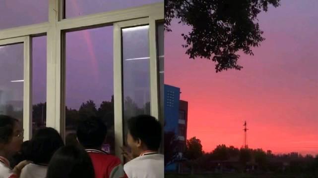 """停课喊学生欣赏彩虹和晚霞,教师的""""浪漫情怀""""值得点赞"""