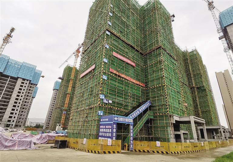 红古碧桂园玖珑湾项目施工现场