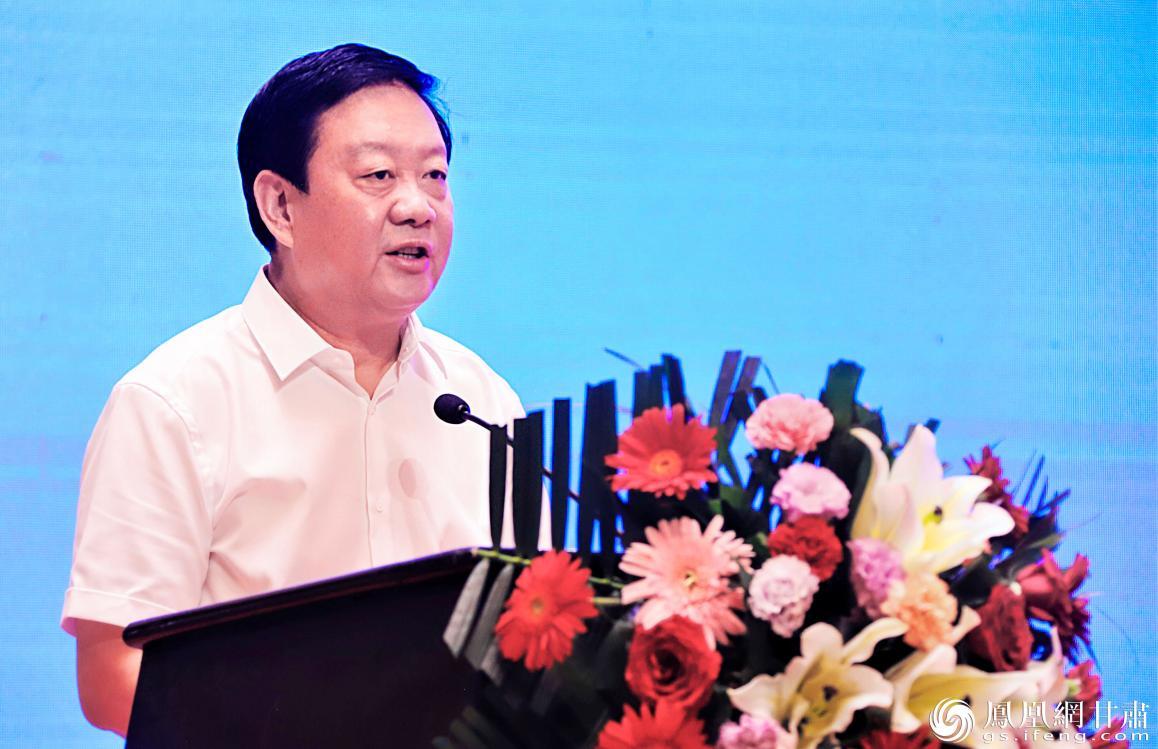张掖市委书记杨维俊致辞 赵琳 摄