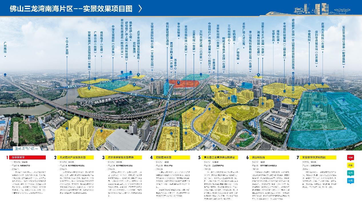 图为:三龙湾南海片区实景效果图。