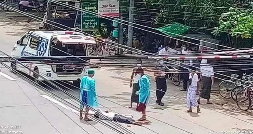 缅甸仰光新冠肺炎确诊患者在街头发病身亡