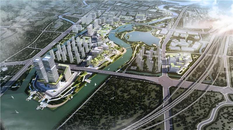 文翰湖国际科创小镇效果图。