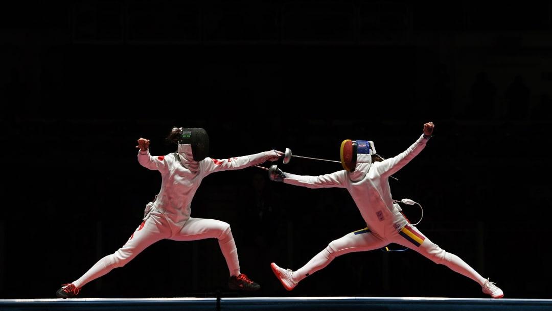 2016年里约奥运会女子重剑团体决赛,孙一文对阵罗马尼亚选手西蒙娜·格曼