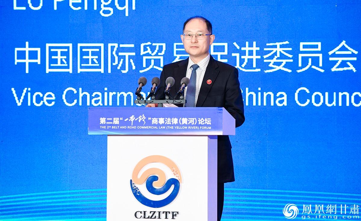 中国国际贸易促进委员会副会长卢鹏起致辞 杨艺锴 摄