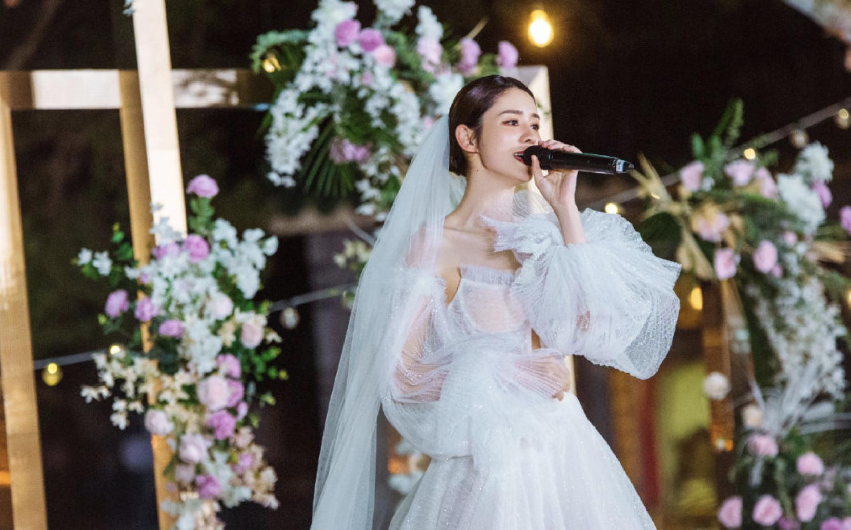 张馨月解释没办婚礼原因 不介意林峯拍吻戏
