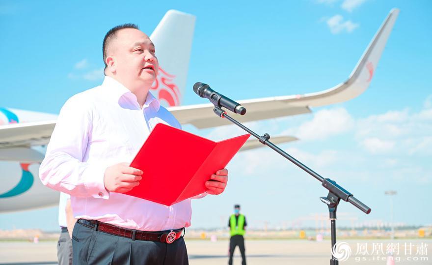 长龙航空董事长刘启宏介绍,未来将与甘肃在航空方面进行进一步合作。杨艺锴 摄