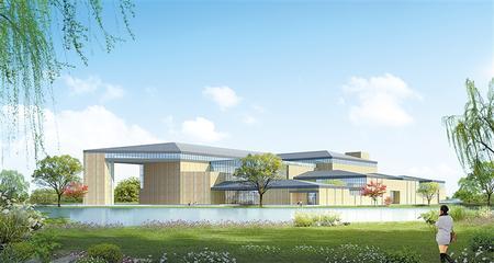 简牍博物馆新馆效果图 本版图片由甘肃简牍博物馆和西北师范大学历史文化学院提供