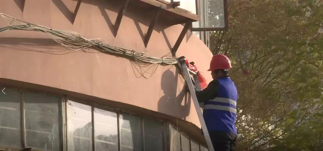"""△ 专项整治""""蜘蛛网线"""""""