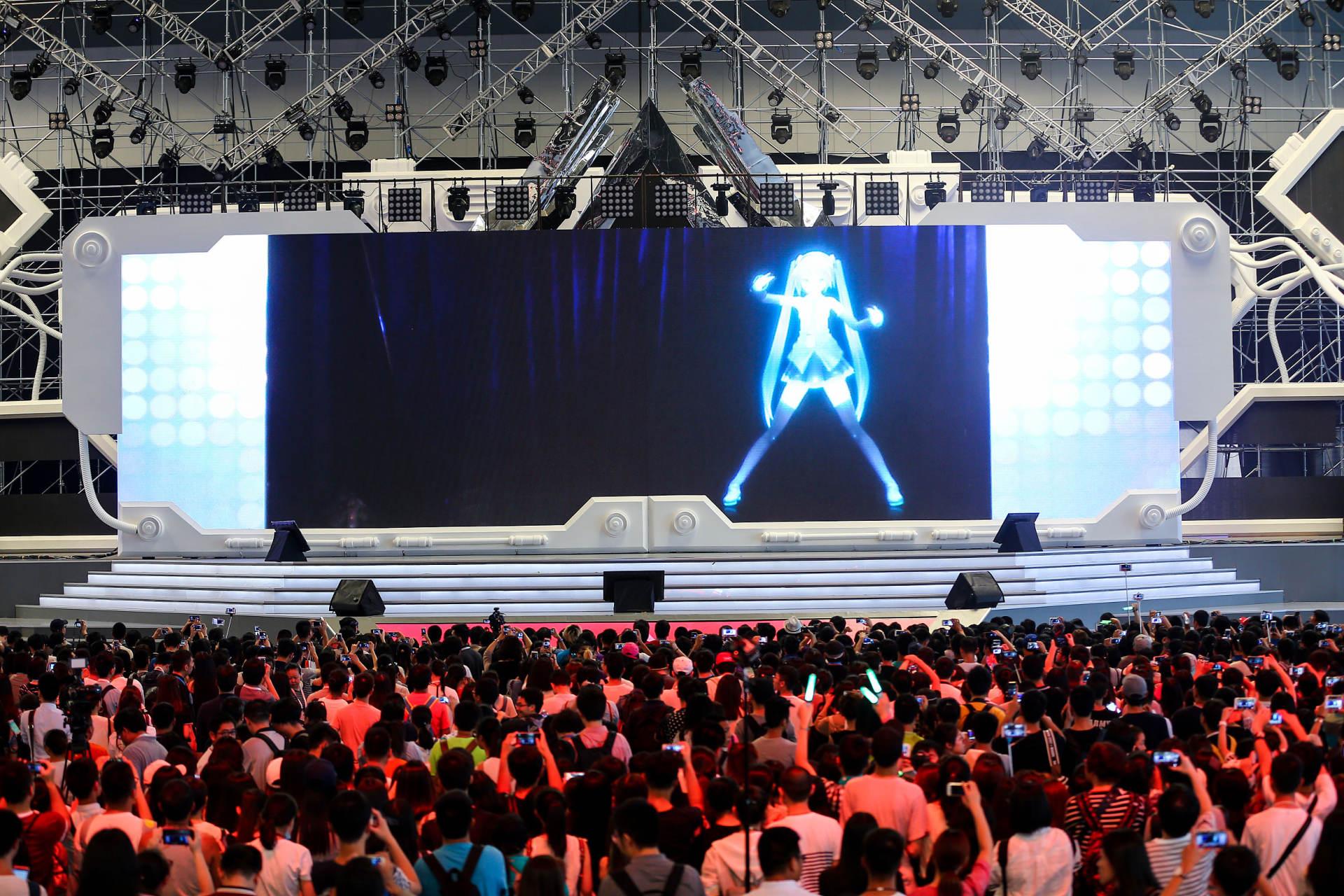 虚拟偶像舞台表演