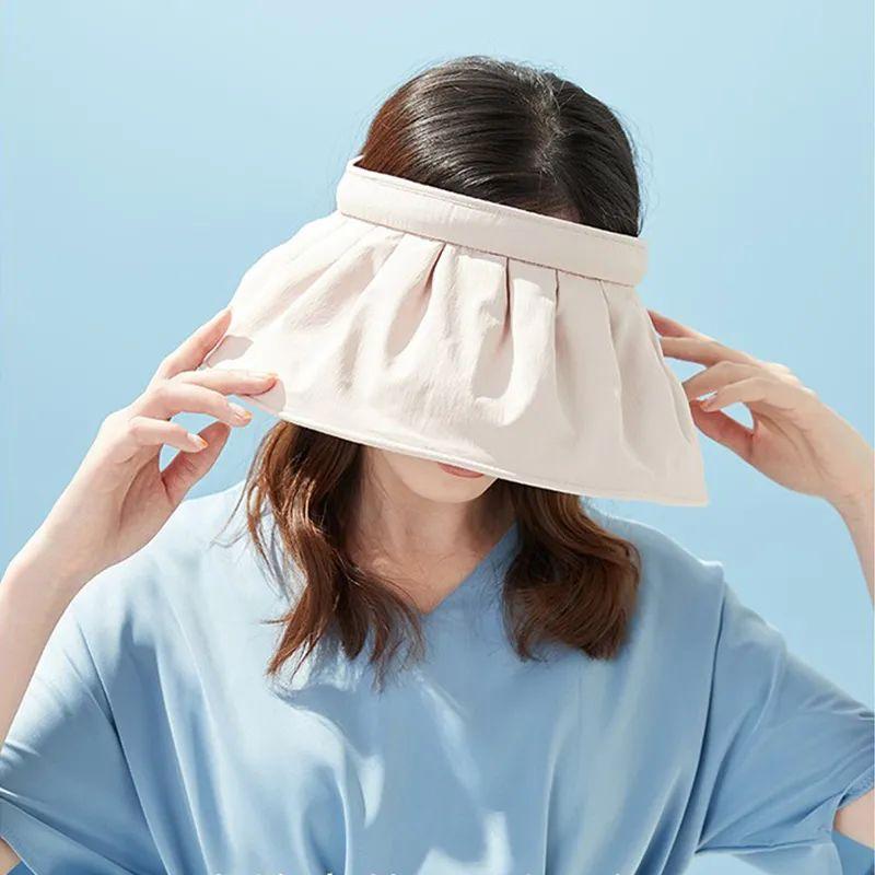 贝壳防晒帽,室外防晒,室内变发箍,谁戴谁显脸小
