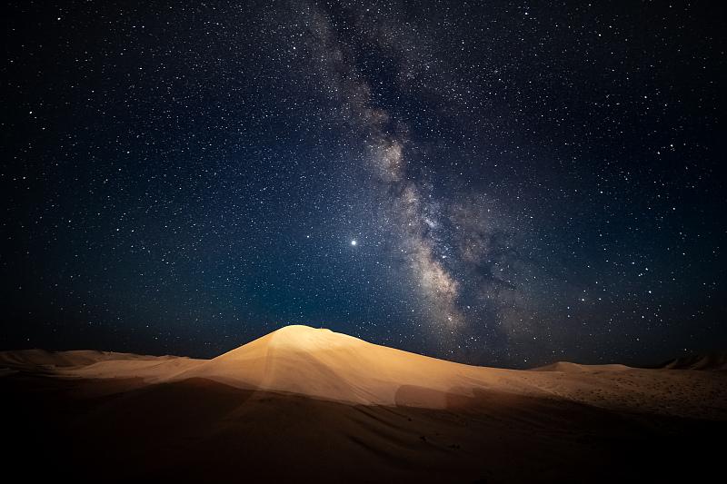 鸣沙山的星空