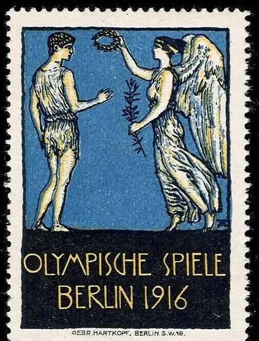 上图_ 1916年奥运会邮票