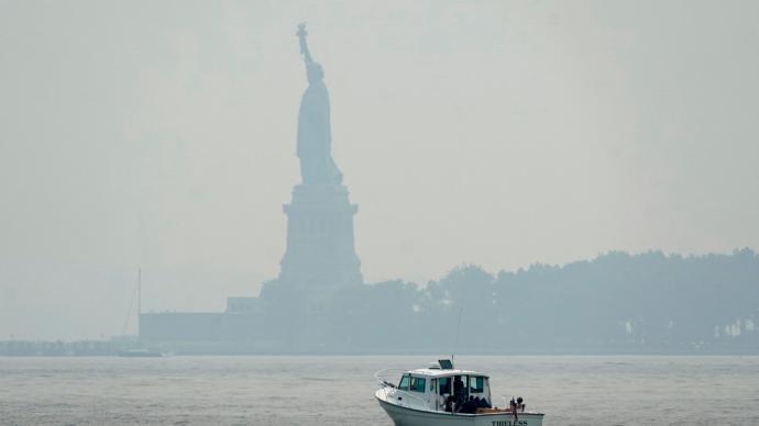 美西部野火浓烟向东飘散 纽约成全球空气最差城市之一