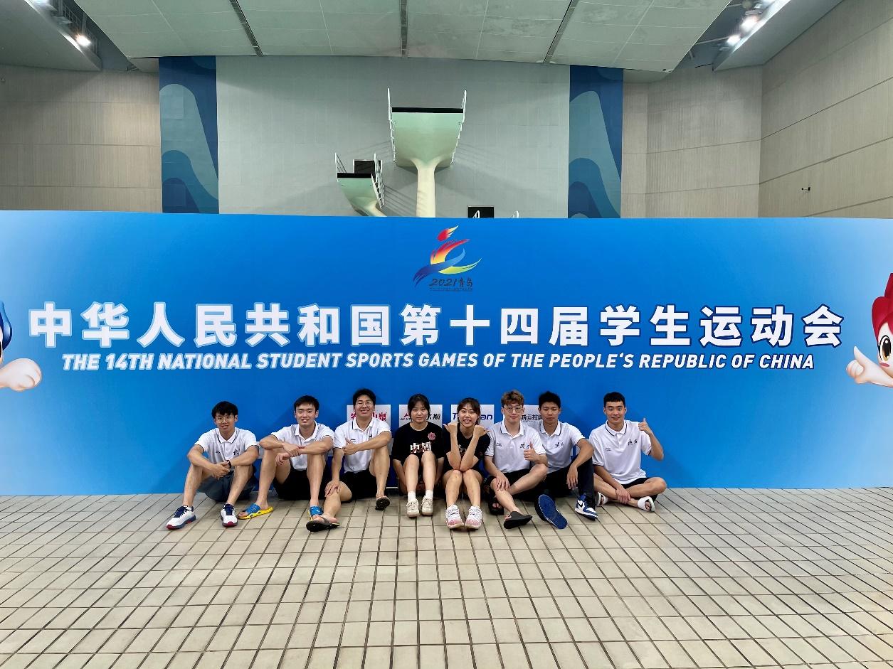 西电游泳队在全国学生运动会获亚季军