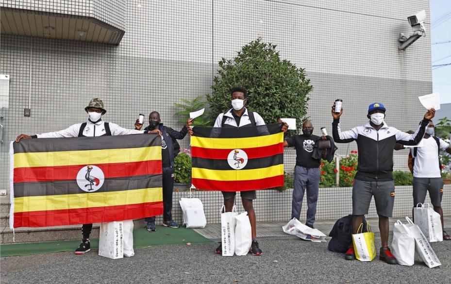 乌干达运动员由大阪前往东京奥运村(资料图)