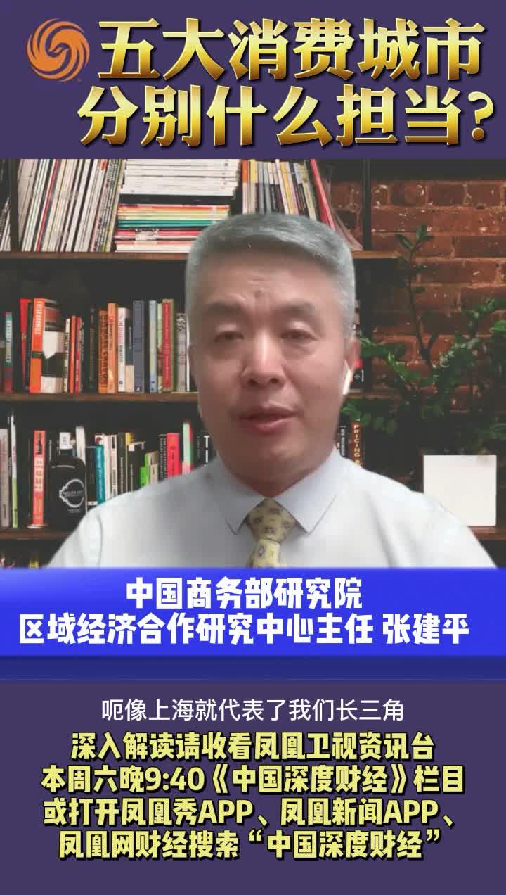 中国商务部研究院专家:五大消费城市 分别什么担当?