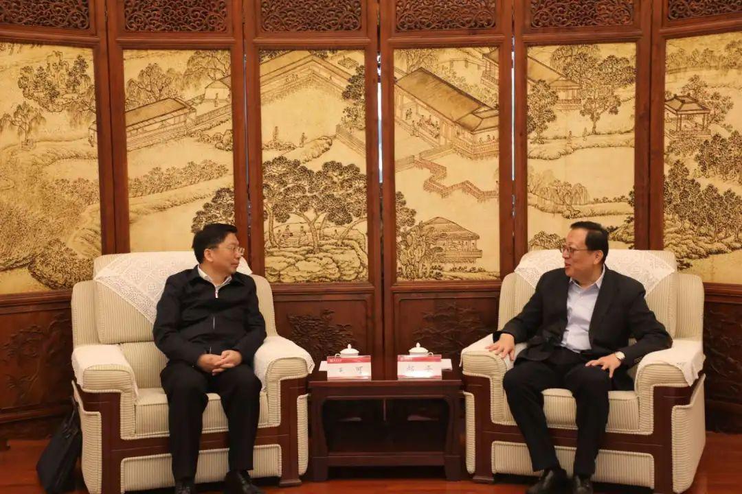 北京大学校长郝平会见王可一行