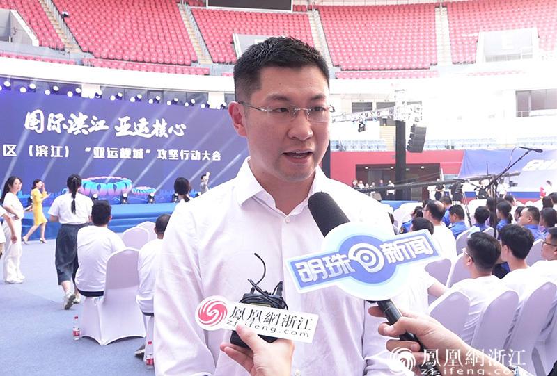 阿里体育有限公司CEO穆旸接受媒体采访 尚天宇 摄