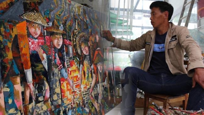 农民毕加索:成名后一幅画卖过8万 在乡下自建别墅